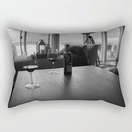 Overcast Red Rectangular Pillow
