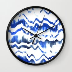 Blue Water Love #1 Wall Clock
