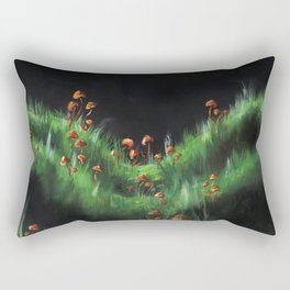 Meadow with Mushrooms and Moss: The Nude Rectangular Pillow