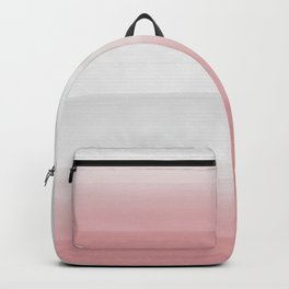 Touching Blush Gray Watercolor Abstract #3 #painting #decor #art #society6 Backpack