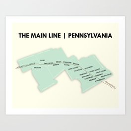 The Main Line, Pennsylvania Art Print