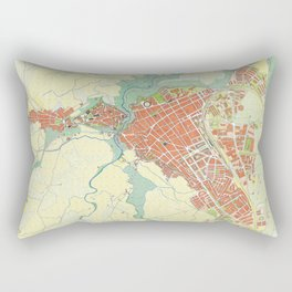 Ronda city map classic Rectangular Pillow