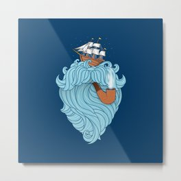 Skilled Sailor Metal Print