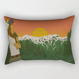 This is When Rocky Mountain Dreams Come True. Rectangular Pillow