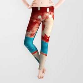 Red landscape Leggings