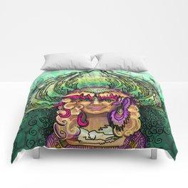 Meditation - Green Tara Comforters