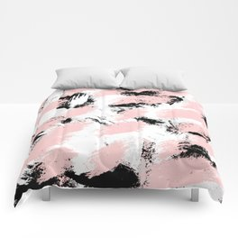 Abstract Pink/white Comforters