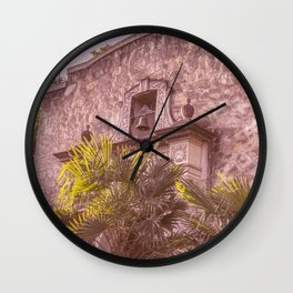 Palm Tree Summer - The Alamo Wall Clock