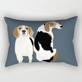 Gracie and Greta tree walker coonhounds Rectangular Pillow