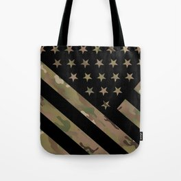 U.S. Flag: Military Camouflage Tote Bag