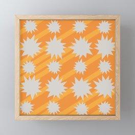 Orange Pow Bang Framed Mini Art Print