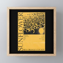 SUNFLOWER PORTRAIT Framed Mini Art Print