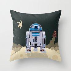 Space Robot Throw Pillow