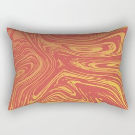 Red marble pattern with golden tint Rectangular Pillow