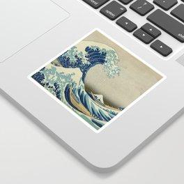 The Classic Japanese Great Wave off Kanagawa Print by Hokusai Sticker