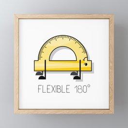 Backband and fexibility fun comic drawing Framed Mini Art Print