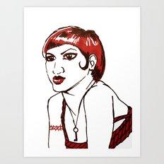 RED HEAD Art Print