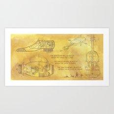 POEM OF SPACESHIP Art Print