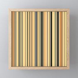 High Society Vintage Yellow Black White Stripes 001 - Corbin Henry Framed Mini Art Print