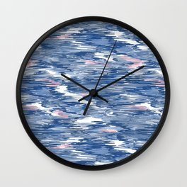Scribbling with a crayon Wall Clock
