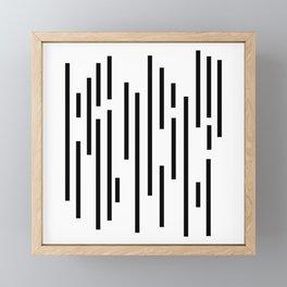Minimal Lines - Black Framed Mini Art Print