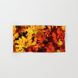 Yellow and Red Sunflowers Hand & Bath Towel