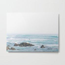Monterey Coast - Minimalist Ocean Photography Metal Print
