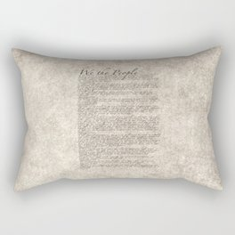 United States Bill of Rights (US Constitution) Rectangular Pillow
