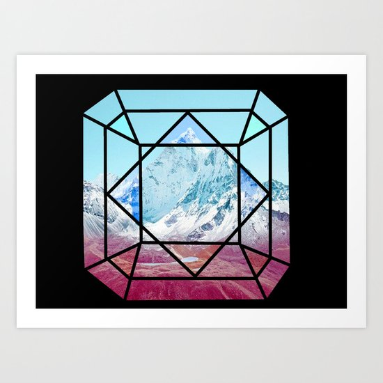 Mountains Majesty  Art Print