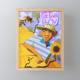 Scum F*ck Flower Boy Framed Mini Art Print