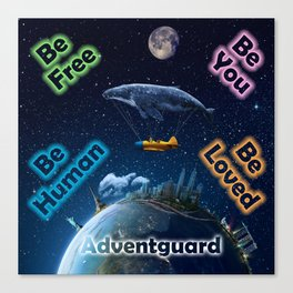 Advent Guard Earth Tranquil Whale Aspect Canvas Print