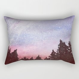 Reach for the Stars Original Watercolor Painting Rectangular Pillow