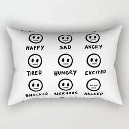 Resting Bitch Face Rectangular Pillow