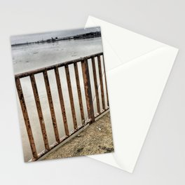 Lookout at Mississippi River, Illinois, Winter 2017 Stationery Cards