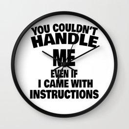 woman instruction man single sarcasm joke gift Wall Clock