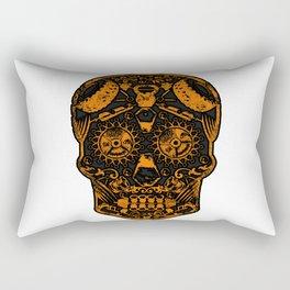 Strongman Sugar Skull, Dia De Los Deadlift Rectangular Pillow