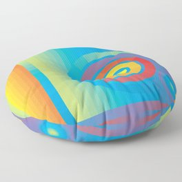 Square Spiral Floor Pillow
