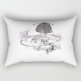 A Girl In Her Own Zone Rectangular Pillow