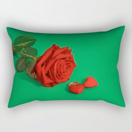 Surrealistic Rose with Hearts Rectangular Pillow