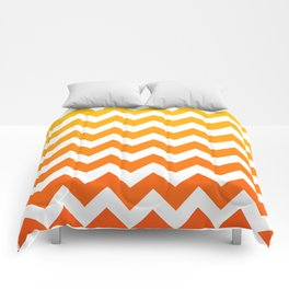 Golden Zigzags  Comforters