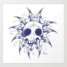 Salomonic skull  Art Print