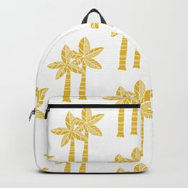Palm Tree Pattern Mustard Yellow 3 Backpack