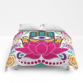 Hamsa Lotus Flower Spiritual Comforters