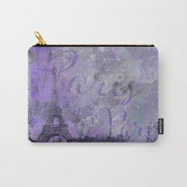 Purple Paris Watercolor Art Carry-All Pouch