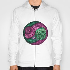 circle of snails Hoody