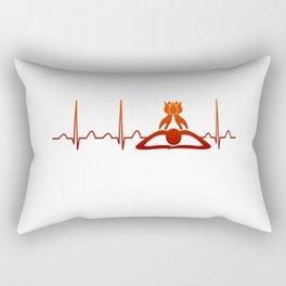 Massage Therapist Heartbeat Rectangular Pillow