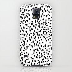 Nadia - Black and White, Animal Print, Dalmatian Spot, Spots, Dots, BW Galaxy S5 Slim Case