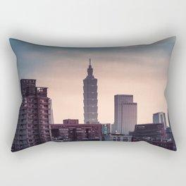 Taipei Skyline Rectangular Pillow