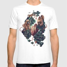 monkey temple Mens Fitted Tee White MEDIUM