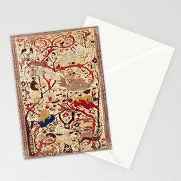 Heriz Azerbaijan Northwest Persian Silk Animal Rug Print Stationery Cards